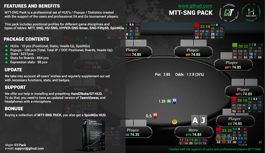 GT MTT-SNG Pack